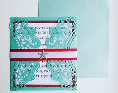 The Little Mermaid laser cut wedding invitation