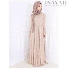 Blush Lace Gown {Limited Edition } ll Make an effortless chic statement with this classic gown . www.inayahcollection.com #inayah#gowns#eid#occasion
