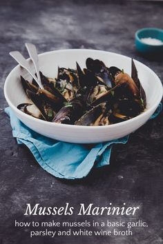 My first story on Steller: how to make Mussels Marinier--mussels in a simple garlic, parsley and wine broth.