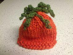 baby CARROT hat crochet pattern   Easy Baby Carrot Top Hat