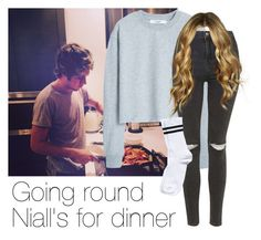 """Going round Niall's for dinner"" by style-with-one-direction ❤ liked on Polyvore featuring MANGO, Topshop, Pieces, OneDirection, 1d, NiallHoran and niall horan one direction 1d"