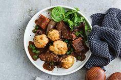 Jackaroo stew with sour cream and chive dumplings main image