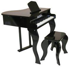 Schoenhut 37 Key Elite Baby Grand Piano - Black 372B