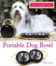 The Shabby Dog is giving away one of their portable dog bowls.