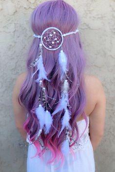 White Dreamcatcher Headband #A1024