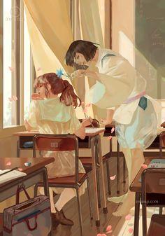 Image about love in Studio Ghibli by RikaOsaka Studio Ghibli Art, Studio Ghibli Movies, Hayao Miyazaki, Totoro, Personajes Studio Ghibli, Chihiro Y Haku, Illustration, Howls Moving Castle, Pretty Art