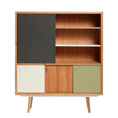 red edition - Fifties High-Board, grey/olive green/cream (L31) Mehrfarbig T:38 H:150 B:130