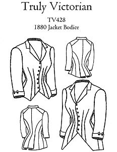 """For my Jacket to wear to FALL BALL......  Truly Victorian Ladies 1880 Jacket  Pattern 30-50"""" Bust"""