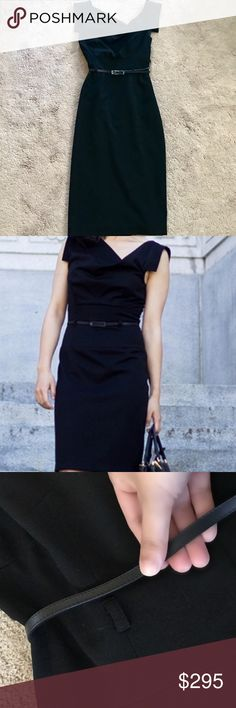 Black Halo Jackie O Pencil Dress + Matching Belt Black Halo Jackie O Black Pencil Dress + Matching Belt, Size 6. Rarely used. Still in great condition. Black Halo Dresses