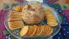 Cheese ball for Christmas party....I made from Jacque Brown's recipe