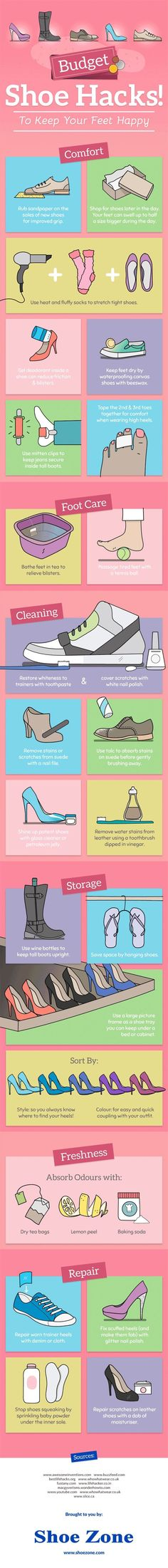 Fix shoes. Fix squeaky shoes by putting powder under the insole!