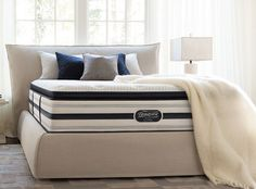 """Simmons Beauty Rest """"Recharge"""" series - pocket coil system with Geltouch memory foam :: $680 for most basic plush version; $1380 for more plus, pillowtop version (from Sleepy's)"""