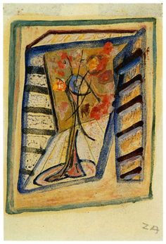 1943.11.24 Cesare Zavattini, Finestra con vaso di fiori   #zavattini