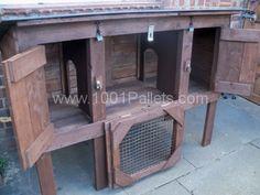 rabbit hut2 600x450 Rabbit houses from pallets in pallet garden diy pallet ideas  with rabbit Pallets Hut House