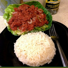 Bully Beef & Rice...and some Rum in the background :-)