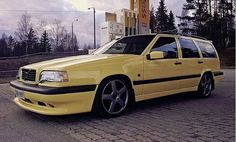 Good looking yellow 850 wagon Volvo V70r, Volvo Wagon, Volvo Cars, Reliable Cars, Red Wagon, Car Car, Cars And Motorcycles, Touring, Cool Cars