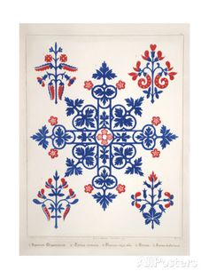 Smithsonian Libraries: Augustus Welby Northmore Pugin; Floriated Ornament Giclee Print at AllPosters.com