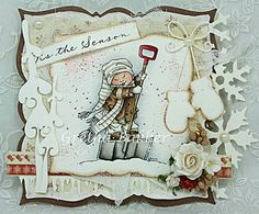 What's not to love about this gorgeous card by the talented Gretha Bakker?! Gorgeous image from Mo Manning, lovely die-cuts and embellishments and all that lovely frantage!