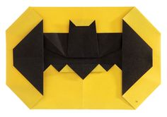 Make your own Bat-Symbol. Even BATMAN will be impressed. #DCSuperHeroesOrigami #Batmanday