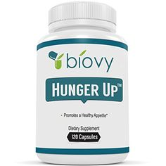 HUNGER UP� - Best Appetite Stimulant by Biovy (with No Magnesium Stearate) - Effective Weight Gain Pills Including Fenugreek extract To Increase Appetite & Gain Weight In All The Right Places