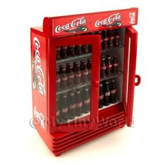 Double Coke Fridge With Coke Bottles Doll House Minis