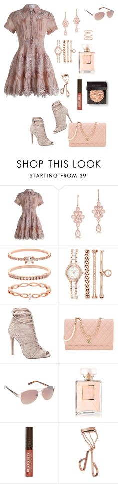 """Sunday Blush"" by lalalace-1 ❤ liked on Polyvore featuring Zimmermann, Anne Sisteron, Accessorize, Anne Klein, Chinese Laundry, Chanel, Jessica Simpson, Burt's Bees, Tweezerman and Laura Mercier"