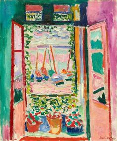 Open Window, Collioure by Henri Matisse is among the very first fauve works. It was painted during the summer of when Matisse, together with André Derain, worked in the small Mediterranean fishing port of Collioure, near the Spanish border. Henri Matisse, Matisse Kunst, Matisse Art, Matisse Prints, National Gallery Of Art, Art Gallery, National Art, Matisse Pinturas, Maurice De Vlaminck
