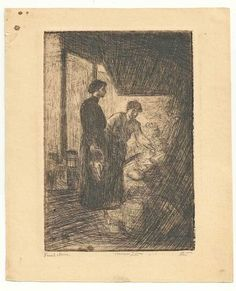 Marco ZIM Russia Russian Etching Lower East Side Manhattan NY Jewish Antique 30s #MarcoZim