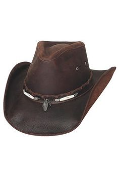 bf58f5a2e14 Bullhide Briscoe Leather Cowboy Hat Leather Cowboy Hats