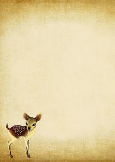 So cute! ~~~~~ Briefpapier hertje - Vivaldi Loves