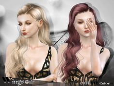 Sims 4 CC's - The Best: WINGSIMS HAIR NOE918 F