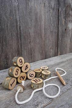 Montessori math, Montessori practical life, Toddler gift, Waldorf toy, Natural toy - Activities for kids Toddler Gifts, Toddler Toys, Toddler Activities, Nature Activities, Diy Montessori, Montessori Practical Life, Wood Toys, Reggio, Diy Toys