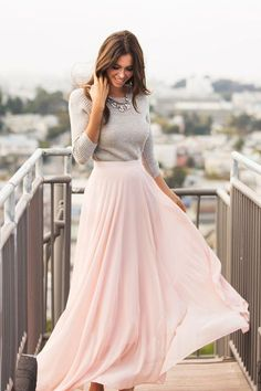 Sweet and delicate. Pair a maxi skirt with a sweater and statement necklace.