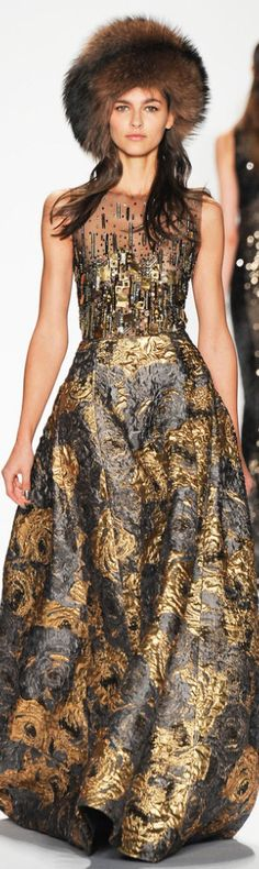 Badgley Mischka  drop the hat - the gown is beautiful.