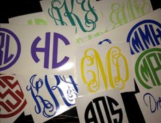 Monogram  Vinyl. $4.00, via Etsy.