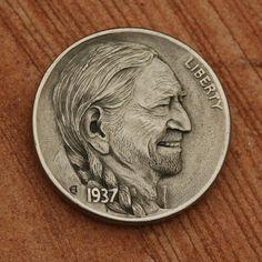 """Willie Nelson """"hobo nickel"""""""