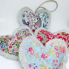 Tutorial & free pattern - Liberty print lavender hearts