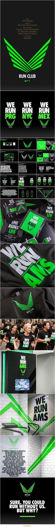 Nike Run Club by GOLDEN , via Behance: