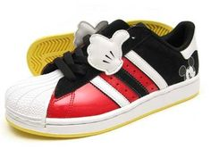 New Qucikstrike Adidas x Disney Collection now in. A few limited edition shoes involving Mickey Mouse (Superstar) and Pluto(Campus Toddler through Adult Mickey Mouse Shoes, New Mickey Mouse, Mickey Mouse And Friends, Mickey Ears, Disney Style, Disney Love, Disney Disney, Authorized Disney Vacation Planner, Disney Bound Outfits