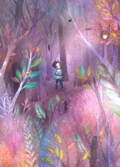 The Man Made of Stars is a picture book written by M. Clark and illustrated by Lisa Evans. Published by Compendium in Lisa Evans, Evans Art, Guache, Cute Monsters, Naive Art, Art Themes, Children's Book Illustration, Book Illustrations, Psychedelic Art