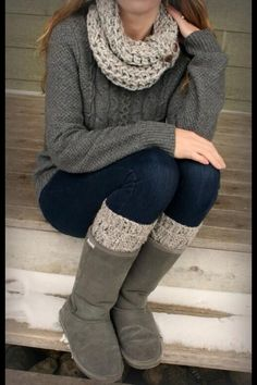 Comfy winter or fall outfit.
