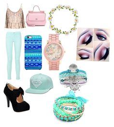 Peach Pier by breezypeach on Polyvore featuring polyvore, fashion, style, Dolce&Gabbana, Ruby Rocks, Aéropostale, Uncommon and Carole