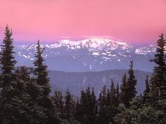 sunrise over mt olympus washington