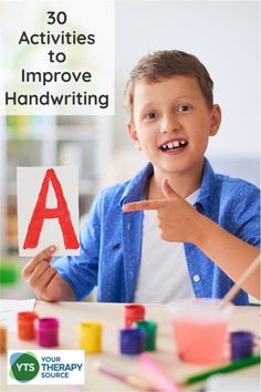 Do you need new ideas and activities to improve handwriting? Of course, the best activity to improve handwriting is to practice.  Although children who struggle with handwriting can be unmotivated to simply practice.  These 30 activities to improve handwriting are wonderful to increase novelty and engagement when practicing handwriting.