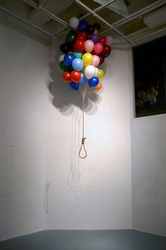 Untitled 70 X 70 X 100 (inch) Balloon, Rope. Death of childhood?