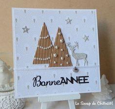 cartes noel & voeux - Le Scrap de Ch@nt@l Homemade Christmas Cards, Easy Christmas Crafts, Christmas Cards To Make, Christmas Items, Xmas Cards, Diy Cards, Handmade Christmas, Holiday Cards, Christmas Canvas Art