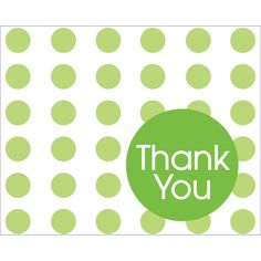 "Club Pack of 96 Fresh Lime Green Dots Foldover Paper Thank You"" Notes 5"""