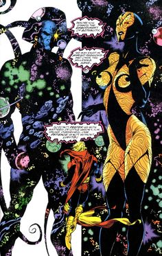 Adam Warlock face to face with Eternity & infinity