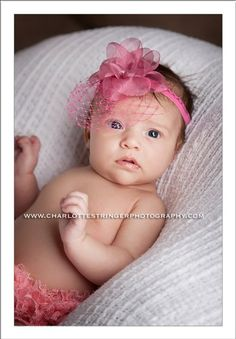 Pink Flower Baby Headband with Pink Veil - The Couture Baby New Baby Flowers, Pink Flowers, Baby Hair Bows, Baby Headbands, 4th Trimester, Baby Dedication, Organza Flowers, Baby Couture, Flower Delivery