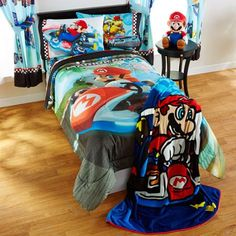 Mario 'Road Rumble' Twin/Full Bedding Comforter - Walmart.com